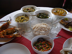 Photo: Delicious full lunch is cooked and served