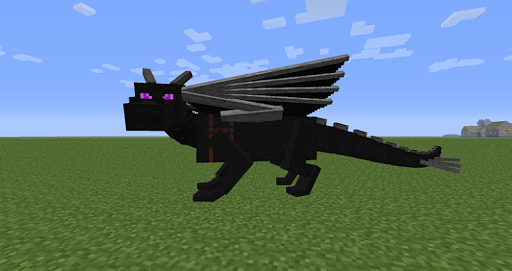 Black fire  Dragon Mod for MCPE screenshots 3