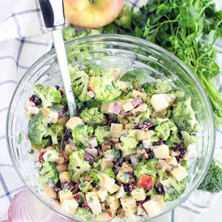 Broccoli Salad (with Apples, Walnuts, and Cranberries).