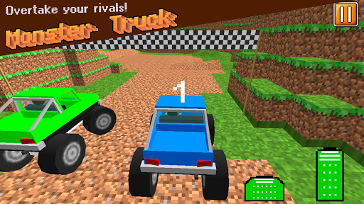 Cube World: Monster Truck Race