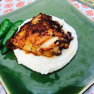 Spicy Harissa Roasted Chicken Thighs