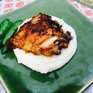 Spicy Harissa Roasted Chicken Thighs.