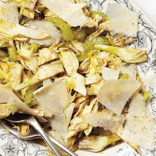 Raw Artichoke, Celery, and Parmesan Salad