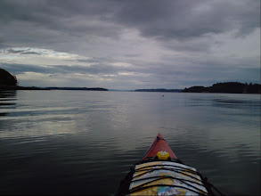 Photo: Heading west thru Broughton Strait with Malcolm Island on the right and Vancouver Island on the left.