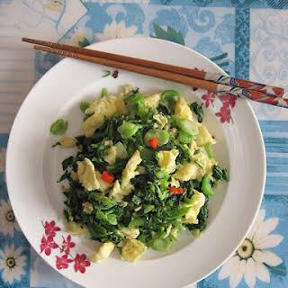 Egg Stir-Fry Chinese Mustard 雪菜炒蛋.