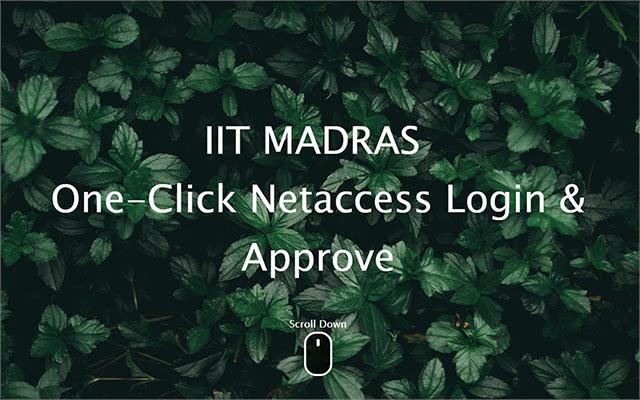 IITM Netaccess One click Login
