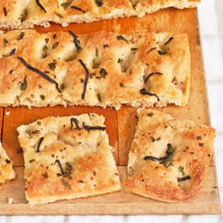 "Breaking Bread Society-Inspired ""Kneadless"" Herbed Thin-Crisp Focaccia"
