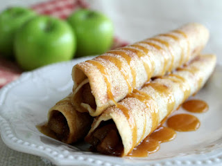Caramel Apple Pie Taquitos Recipe