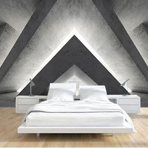 3D Industrial Attic Bedroom Ideas