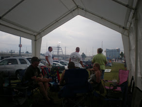 Photo: view under the tent we were in