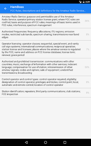 Ham Boss - TECHNICIAN 18 (FCC License Study Exam) Screenshot