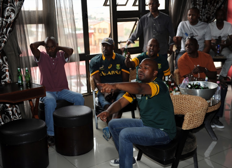 A file photo of Springboks supporters watching the match in Cape Town.