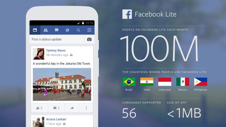 Điện thoại cấu hình thấp - facebook lite vẫn sử dụng được