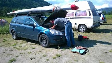 Photo: Не обошлось без приключений. На второй же день машинка отказалась завозить нас на гору.
