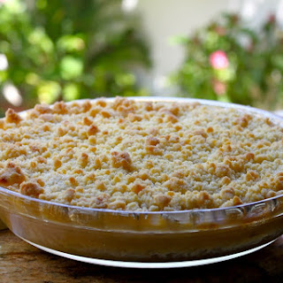 SIMPLY THE BEST APPLE CRUMBLE, OR RHUBARB CRUMBLE, BLUEBERRY CRUMBLE, PEACH CRUMBLE…