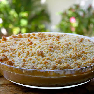 SIMPLY THE BEST APPLE CRUMBLE, OR RHUBARB CRUMBLE, BLUEBERRY CRUMBLE, PEACH CRUMBLE….