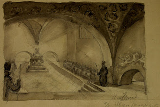 """Photo: Film """"Ivan The Terrible"""" by S. Eisenstein Sketch of Production Design"""