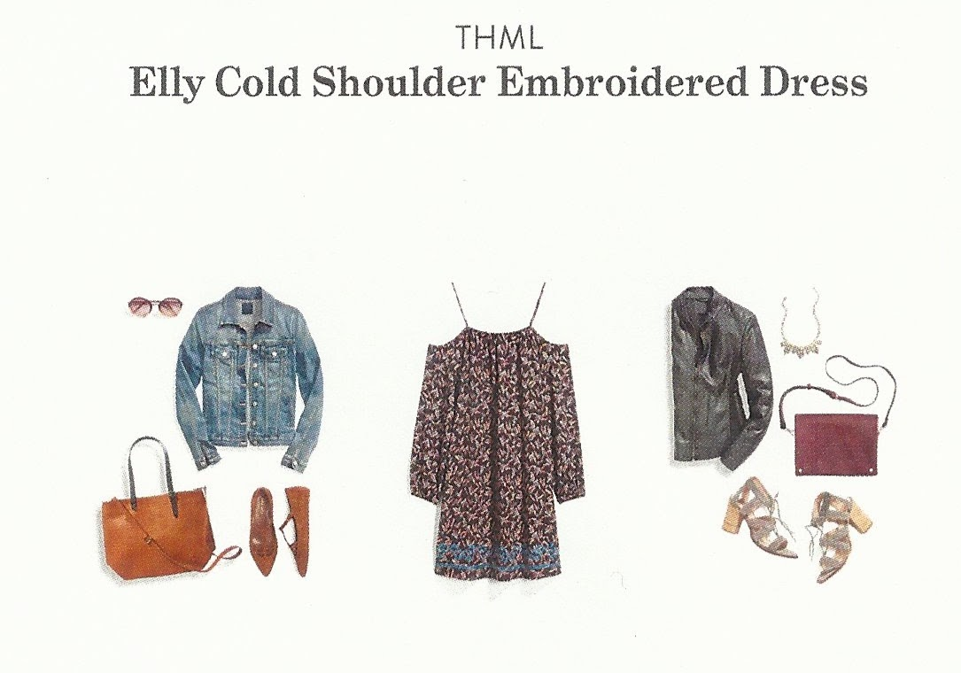 Fall 2017 Stitch Fix, THML Elly Cold Shoulder Embroidered Dress