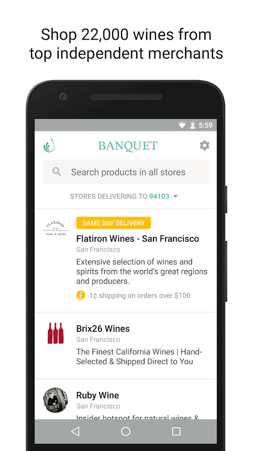 Banquet - Shop Top Wine Stores- screenshot