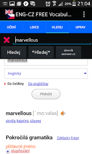 Jiki English Czech Vocabulary Screenshot 4