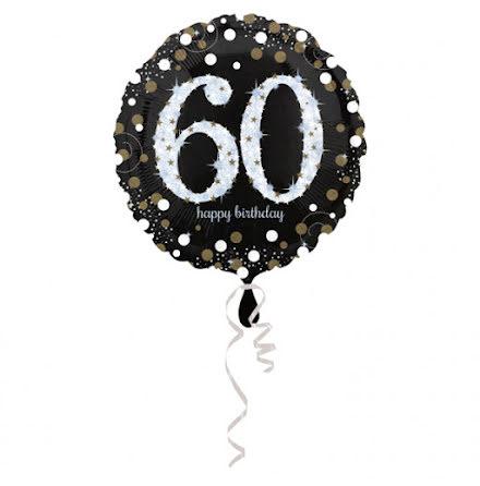 Folieballong Sparkling birthday 60