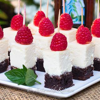 Brownie Cheesecake Bites.