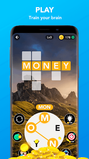 Word Jump : Keep calm & Wordcross puzzle games screenshot 1