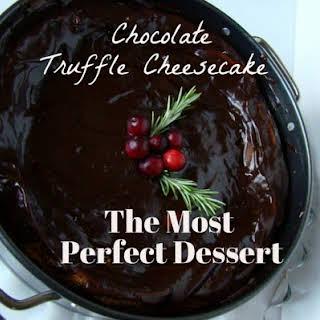 Wild Blueberry Truffle Cheesecake.