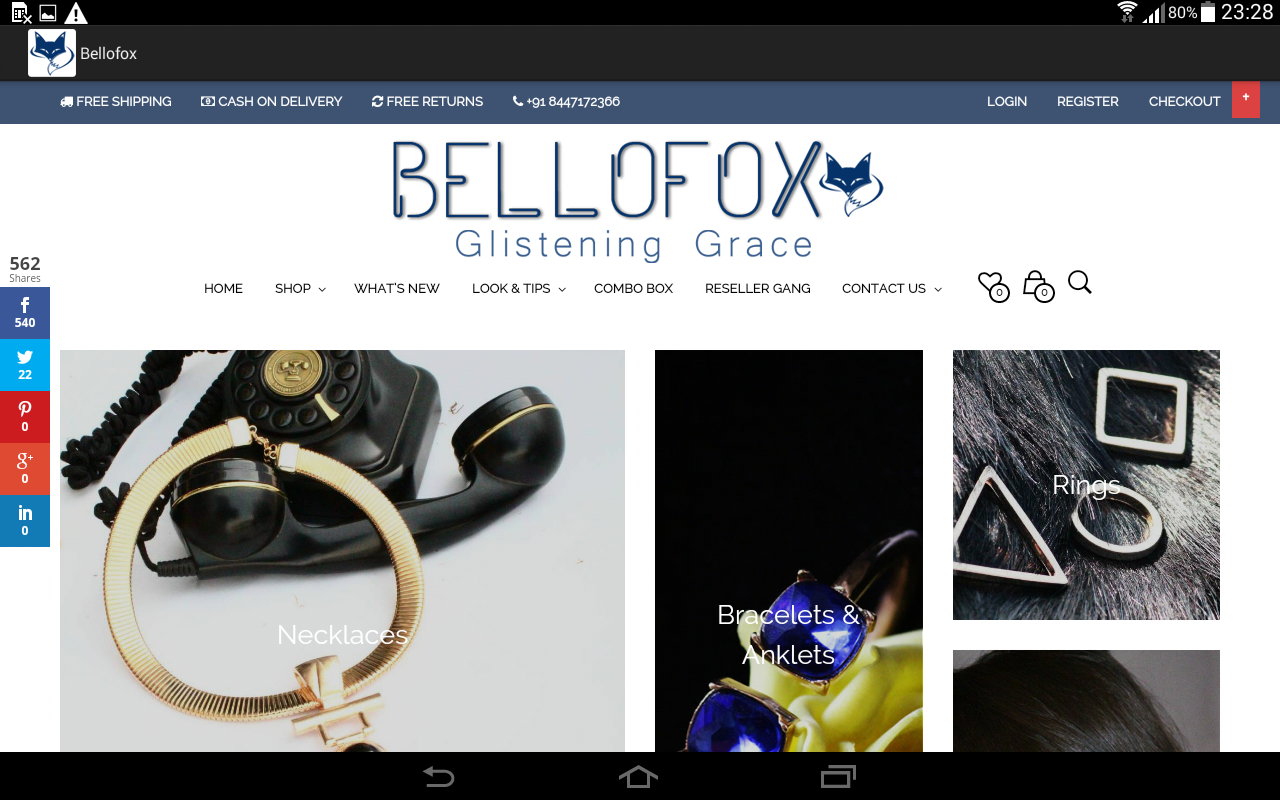 Instagram shopping with bellofox