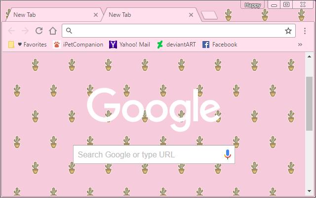 cute cactus pink theme