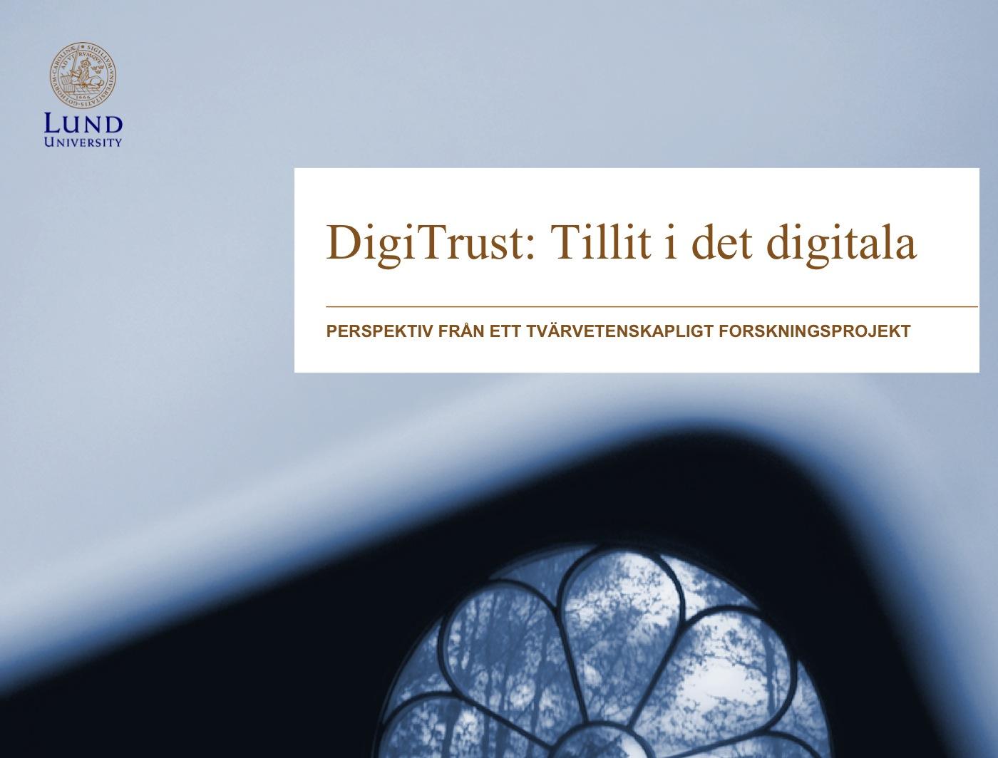 DigiTrust - slutseminarium onsdag den 11 juni.