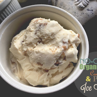 No-Churn Salted Caramel & Pecan Ice Cream.