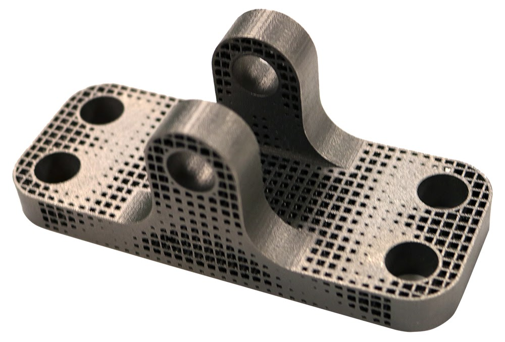 ANSYS Решетчатый кронштейн, полученный с помощью аддитивной технологии