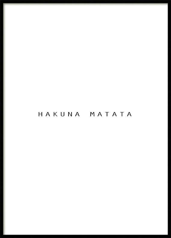 HAKUNA MATATA, POSTER