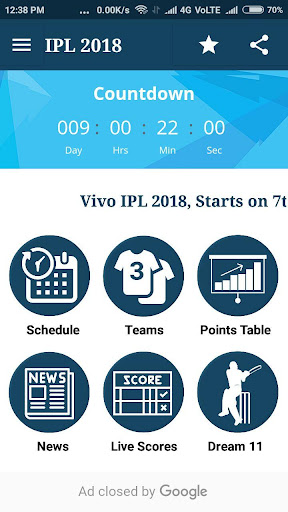 IPL 2018 - Teams, Live Score, Dream11 & Much More 1.0 screenshots 1