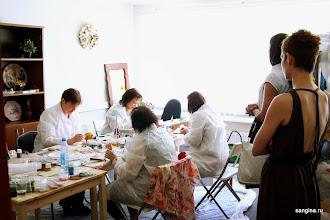 Photo: 16-17 мая 2013 года состоялся ЭКСПРЕСС-КУРС « Креатив от Pébéo и Анастасии Панеевой» в мастерской Сангина.ру
