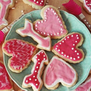 Vegan Shortbread Cookies with Raspberry Icing.