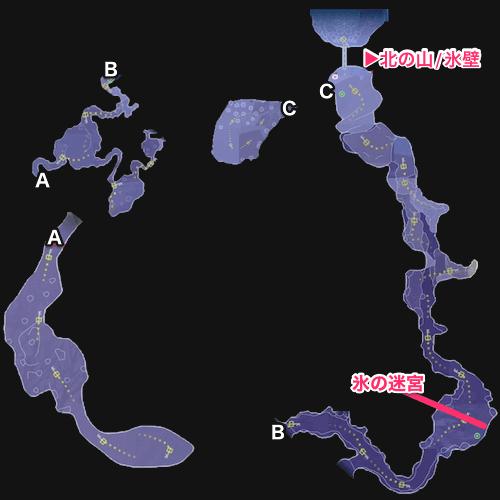 北の山のマップ