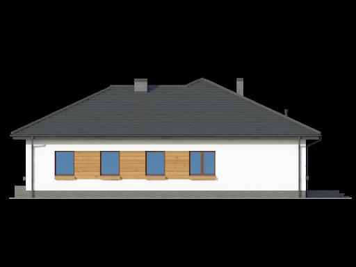 Arkowo biuro w domu - Elewacja prawa