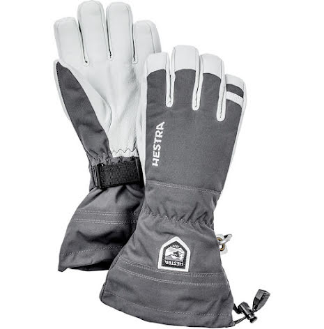 Hestra Army Leather Heli Ski Grå 5-fingerhandske