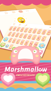 Marshmallow Theme&Emoji Keyboard - náhled