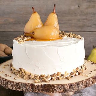 Pear & Walnut Cake with Honey Buttercream Recipe