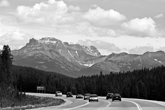 Photo: Ok, here is a card for #PanoPoker by +Mike Spinak and +Barry Blanchard   Theme: Mountains, also with clouds and in b&w