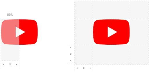 YouTube logo, light, white on a dark background