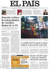 Photo: Bruselas rechaza la independencia de Cataluña dentro de la UE, el huracán Sandy irrumpe en la campaña de EE UU y la subida del IVA causa la mayor caída de ventas en los comercios, en la portada de EL PAÍS, edición nacional, del martes 30 de octubre de 2012 cort.as/2hdd