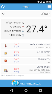 Israel Weather - Weather2day- screenshot thumbnail