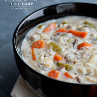 Slow Cooker Chicken Wild Rice Soup.