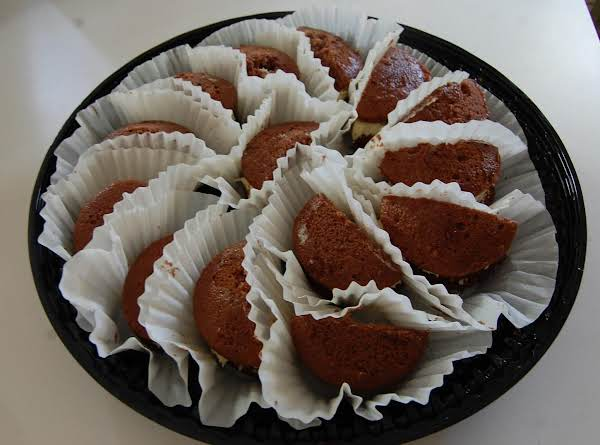 Halved To Serve At A Church's Monthly Birthday Celebration!  Yummy!   These Were Made With The Cake Mix