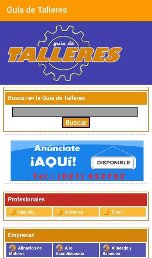 Guía de Talleres- screenshot