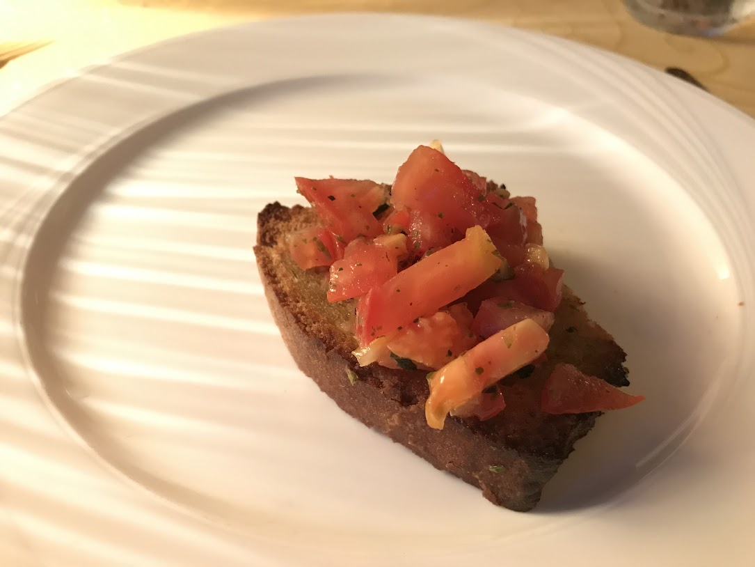 Some Appetizer - Bread with Tomato